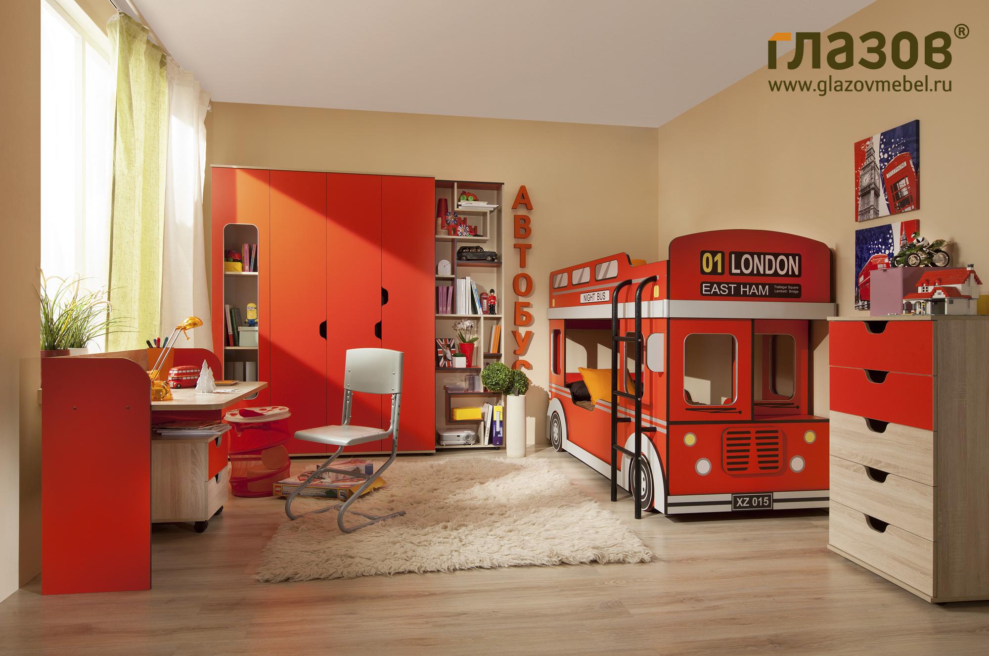 Мебель для детской комнаты глазов автобус 1. купите в mebhom.